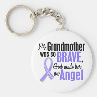 Angel 2 Grandmother Stomach Cancer Key Chains