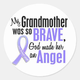 Angel 2 Grandmother Stomach Cancer Sticker