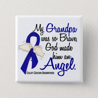 Angel 2 Grandpa Colon Cancer Button
