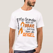 Angel 2 Grandpa Leukemia T-Shirt