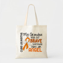 Angel 2 Grandpa Leukemia Tote Bag