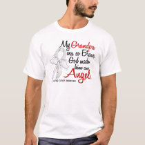 Angel 2 Grandpa Lung Cancer T-Shirt