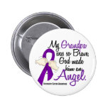 Angel 2 Grandpa Pancreatic Cancer 2 Inch Round Button