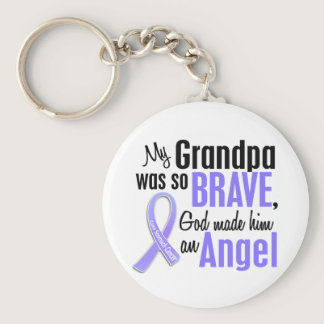 Angel 2 Grandpa Stomach Cancer Keychain