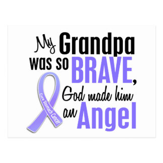 Angel 2 Grandpa Stomach Cancer Postcard
