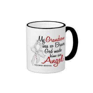Angel 2 Grandson Lung Cancer Coffee Mug