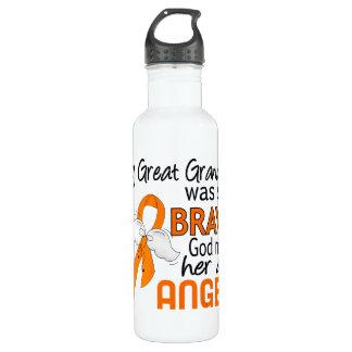 Angel 2 Great Grandma Leukemia Stainless Steel Water Bottle