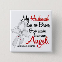 Angel 2 Husband Lung Cancer Button