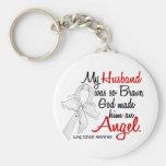 Angel 2 Husband Lung Cancer Key Chains