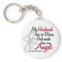 Angel 2 Husband Lung Cancer Keychain