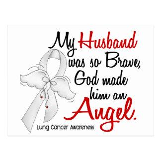 Angel 2 Husband Lung Cancer Postcard