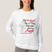 Angel 2 Husband Lung Cancer T-Shirt