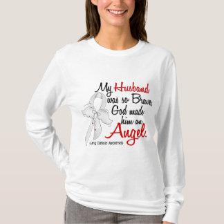 Angel 2 Husband Lung Cancer T-Shirt
