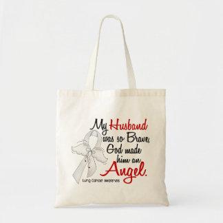 Angel 2 Husband Lung Cancer Tote Bag