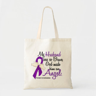 Angel 2 Husband Pancreatic Cancer Canvas Bag