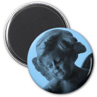 Angel 2 Inch Round Magnet