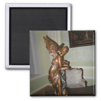 Angel 2 Inch Square Magnet