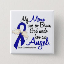 Angel 2 Mom Colon Cancer Pinback Button