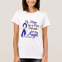 Angel 2 Mom Colon Cancer T-Shirt