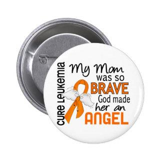 Angel 2 Mom Leukemia 2 Inch Round Button