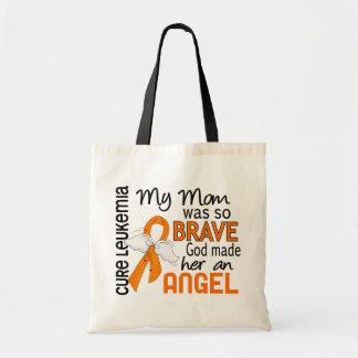 Angel 2 Mom Leukemia Canvas Bag