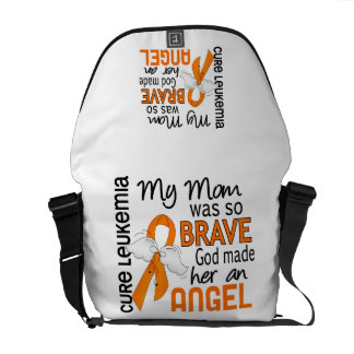 Angel 2 Mom Leukemia Courier Bags