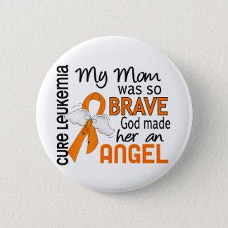 Angel 2 Mom Leukemia Pinback Button