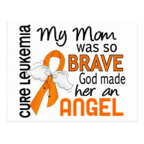 Angel 2 Mom Leukemia Postcard