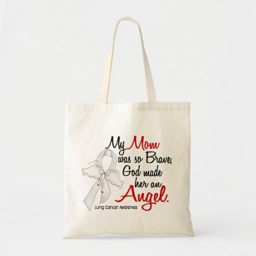 Angel 2 Mom Lung Cancer Bags
