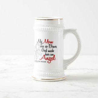 Angel 2 Mom Lung Cancer Coffee Mugs