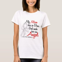 Angel 2 Mom Lung Cancer T-Shirt