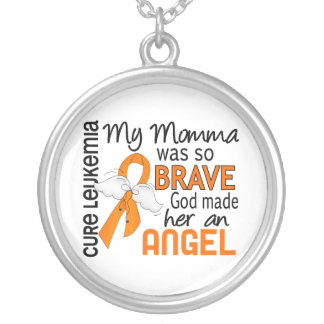 Angel 2 Momma Leukemia Silver Plated Necklace