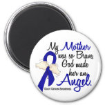 Angel 2 Mother Colon Cancer 2 Inch Round Magnet