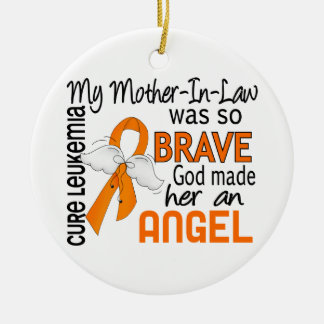 Angel 2 Mother-In-Law Leukemia Christmas Tree Ornaments