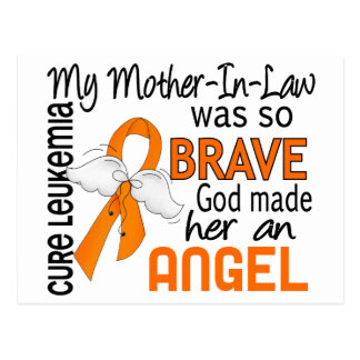 Angel 2 Mother-In-Law Leukemia Postcard