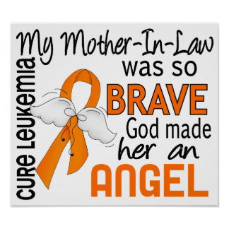 Angel 2 Mother-In-Law Leukemia Posters