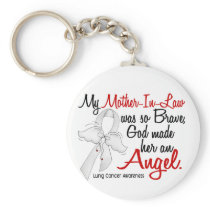 Angel 2 Mother-In-Law Lung Cancer Keychain