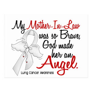 Angel 2 Mother-In-Law Lung Cancer Postcard