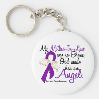 Angel 2 Mother-In-Law Pancreatic Cancer Keychain
