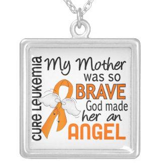 Angel 2 Mother Leukemia Square Pendant Necklace