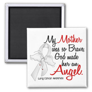 Angel 2 Mother Lung Cancer Magnet