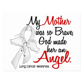 Angel 2 Mother Lung Cancer Postcard