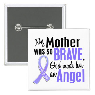 Angel 2 Mother Stomach Cancer 2 Inch Square Button