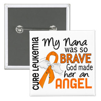 Angel 2 Nana Leukemia 2 Inch Square Button