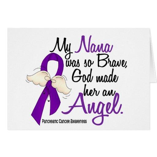 Angel 2 Nana Pancreatic Cancer Greeting Cards