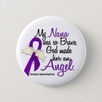 Angel 2 Nana Pancreatic Cancer Pinback Button