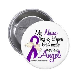Angel 2 Nana Pancreatic Cancer Pinback Button