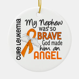 Angel 2 Nephew Leukemia Christmas Tree Ornaments