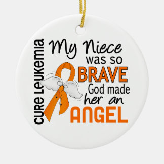 Angel 2 Niece Leukemia Christmas Ornament