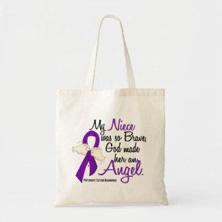 Angel 2 Niece Pancreatic Cancer Canvas Bag